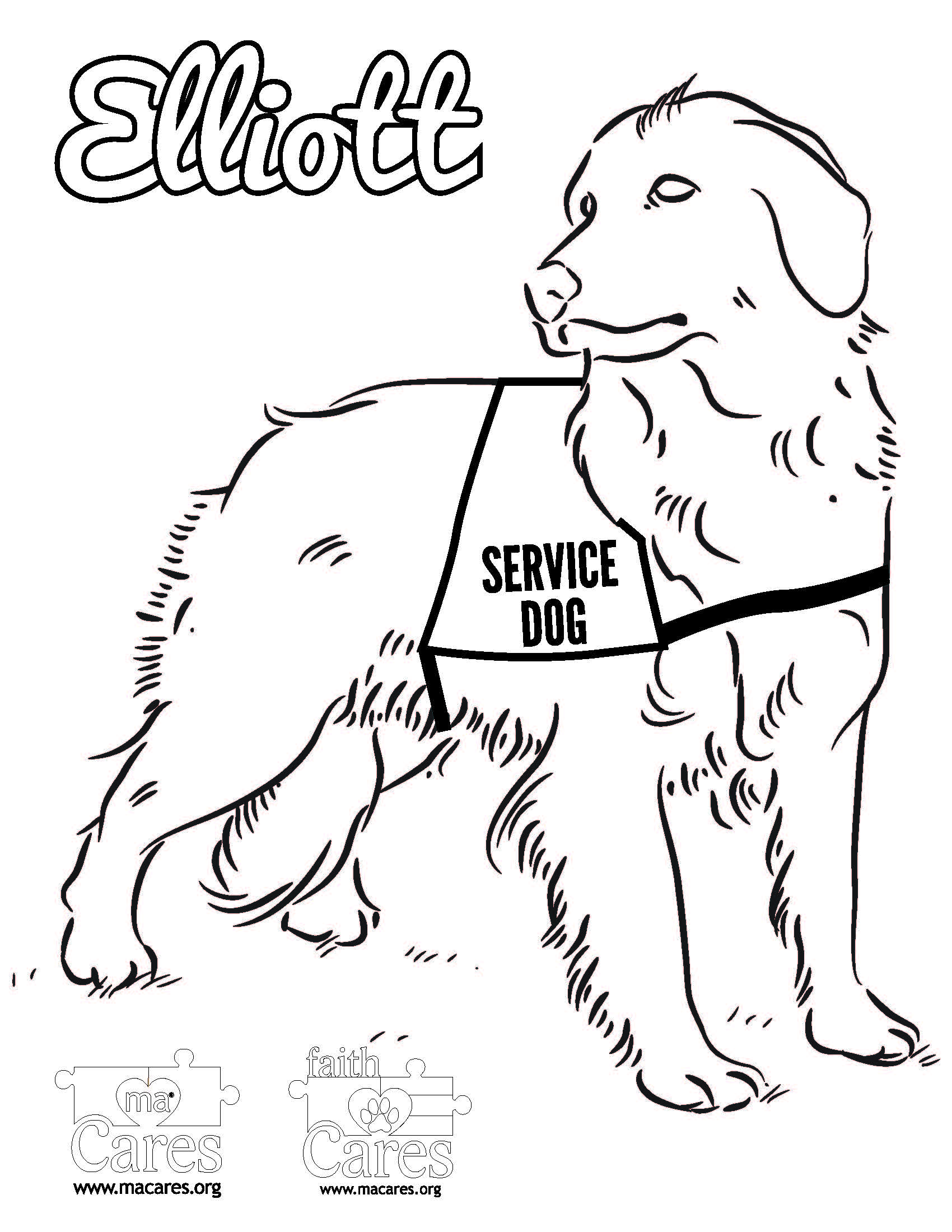ELLIOTT faith Cares Service Dog