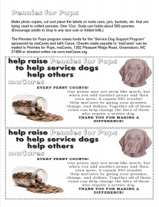 Pennies for Pups Information